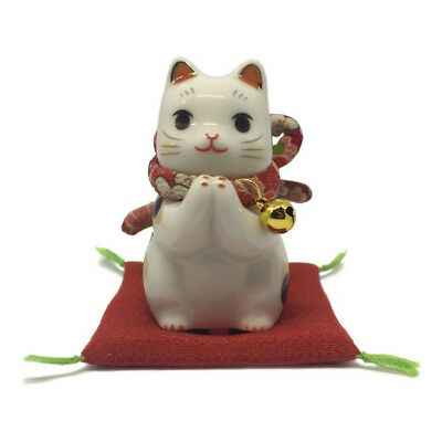 1Chat Japonais 65mm prière Maneki Neko bobtail porcelaine Made in Japan 40591