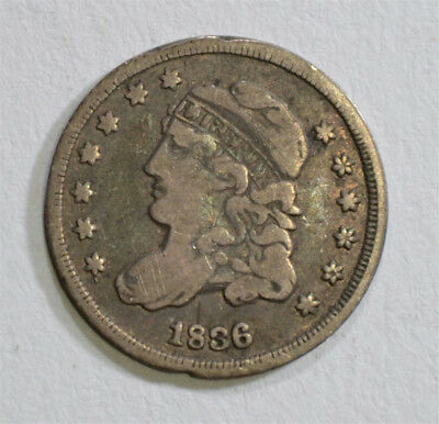 1836 Capped Bust Half Dime Fine