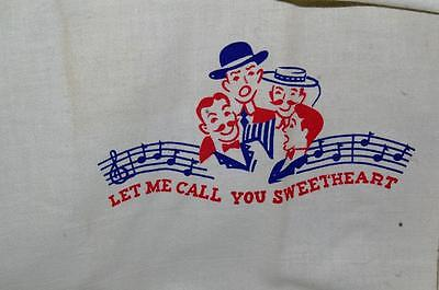 Antique Vintage Dish Towel   Let Me Call You Sweetheart