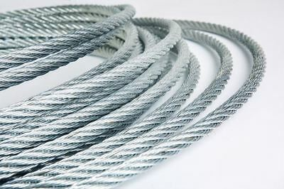 GALVANISED STEEL WIRE ROPE METAL CABLE 1mm 1.2mm 1.5mm 2mm 3mm 4mm 5mm 6mm 8mm