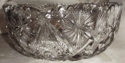 "The ULTIMATE c1907 Sgnd LIBBEY ABP large BRILLIANT 8 1/8"" CUT GLASS BOWL - NMint"