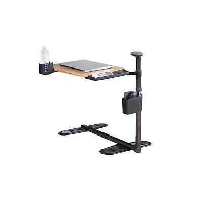 CLEARANCE Universal Swivel Tray Table - Bamboo, Swivel, Pivot, WITH ACCESSORIES