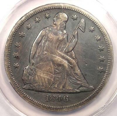 1846-O Seated Liberty Silver Dollar $1 - ANACS XF40 Details (EF40) - Rare Coin!
