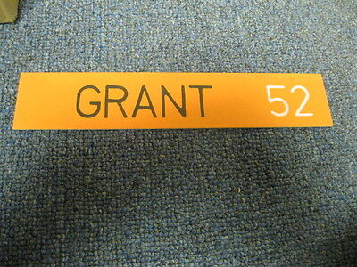 Mark Grant Name Plate from Locker San Franciso Giants #52