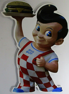 "Bob's Big Boy (large) Plasma Cut Metal Sign 36"" by 27"""