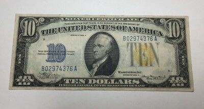 1935 $10 North Africa Silver Certificate Emergency WWII Currency