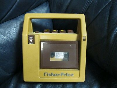 Vintage 1980 Fisher Price 826 Brown Cassette Tape Recorder Player
