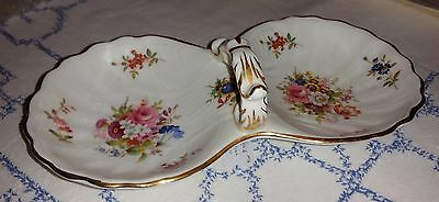 Vintage Hammersley Spode English Floral, Bouquet feature Divided Serving Dish