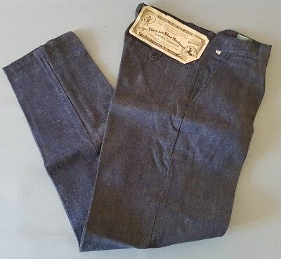 """Jean vintage """"BLUE MUSTANG"""" french denim pant. Neuf/NOS.1950/60's. t42. W33.1e"""