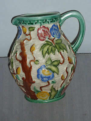 Vintage H. J. Wood Majolica Indian Tree Water Jug Staffordshire hand painted