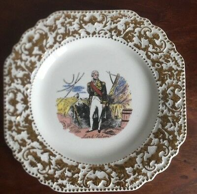 Lord Nelson Pottery Decorative Plate Featuring Lord Nelson + Gilt  Border