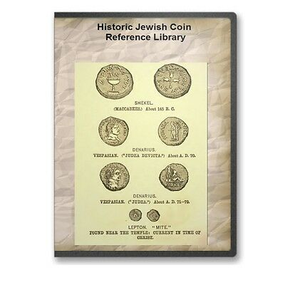 11 Historical Jewish Coin and Medallion Reference Books Shekels Mites CD - D547