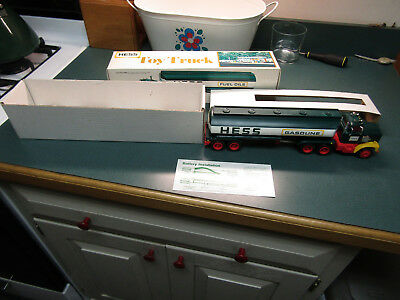 1977  Hess Toy Tanker Truck Mint In Box With Working Lights #2