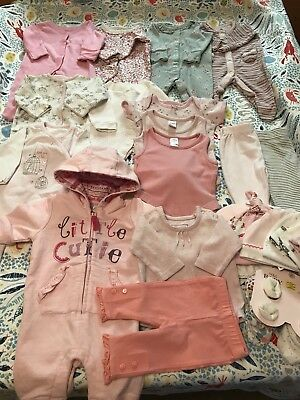 Baby Girl First Size Newborn Bundle. Mostly Next. 0 Months. 15 Items Plus Hats