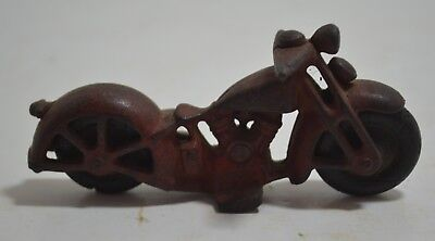 VINTAGE 1930's  HUBLEY CAST IRON  MOTORCYCLE ANTIQUE HARLEY INDIAN