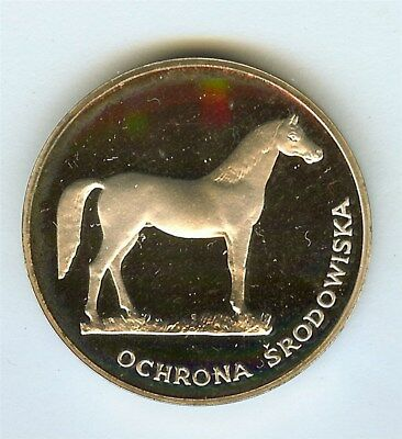 Poland 1980 Silver 100 Zlotych  Y#126, Horse  Perfect Proof Dcam