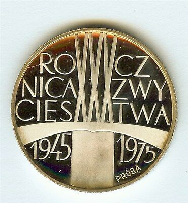 Poland 1975 Silver Proba 200 Zlotych  Pr-268  Perfect Proof Dcam