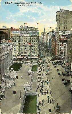 Postcard Fifth Avenue North From 40th Street New York USA United States Unused