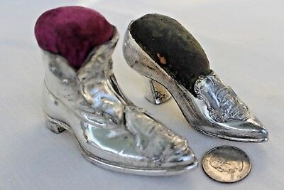 ANTIQUE JENNINGS BROS SOUVENIR Wm's SHOE & MAN'S BOOT! PIN CUSHION Washington DC