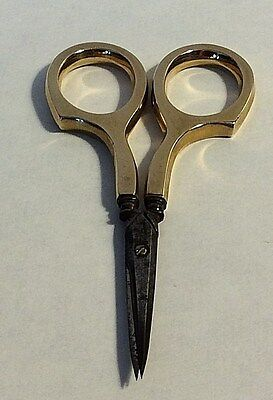 Beautiful Antique 14k Yellow Gold Simons Handles Scissors Sewing  #435