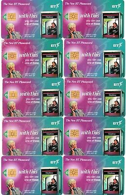 The New Bt Phonecard (10 Phonecards - All The Same £5.00 Units)