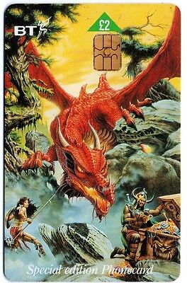 Bt Phonecard – Dragons Of Summer Flame Special Edition Phonecard No. 3