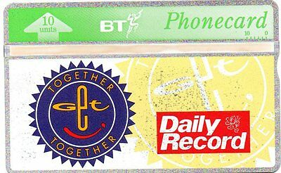 """Bt Phonecard – """"Together Together"""" Daily Record (Thresher)"""