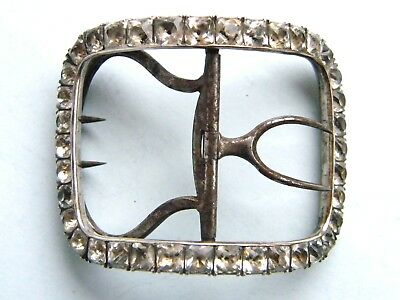 Georgian Silver and Paste Shoe buckle , c 1780