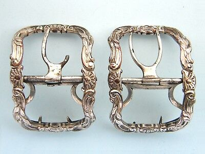 Pair of Silver Plated Georgian Shoe buckles , c 1760 – 1775