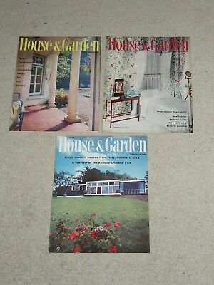 House and Garden Magazine - Vintage - 3 Issues - April, May, June 1959