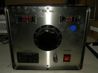 ISE VARIAC 3PN1010B-DVAM 0-140VAC 10A Digital Voltage & Ammeters