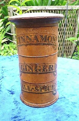 Rare Size Victorian  Spice Tower Of Diminutive Form -  3 Sections Great Example