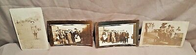 LOT 4 VINTAGE RPPC REAL PHOTO POSTCARD Automobile Car Outdoors Early 1900's