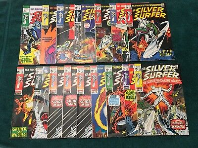 Silver Surfer Lot Of 16 Comics #5-18 / 3 Issues of #14 Most Fine Or Better !