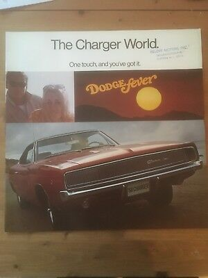 1968 Dodge Charger RT 426 Hemi 440 383 Color Brochure Catalog Prospekt