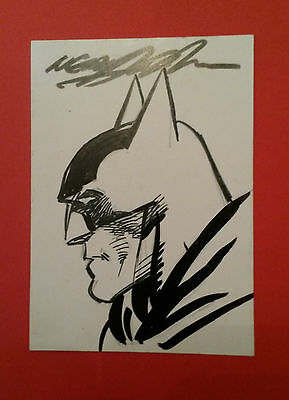 Original sketch card - Neal Adams Batman 75th Anniversary