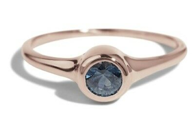 Bario Neal Cala Sapphire Ring (4mm) - Ethical Blue Sapphire & Polished Platinum