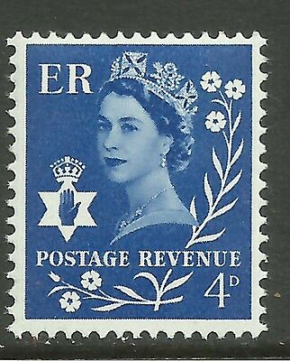 NORTHERN IRELAND GB 1968 QE2 4d Blue Umm SG N 17.(L968 )