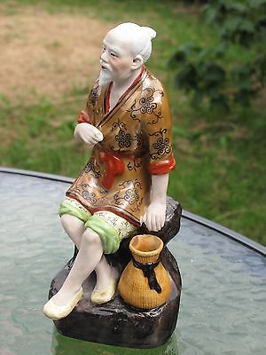 Chinese Porcelain  Figure  Polychrome Decoration Marked #2