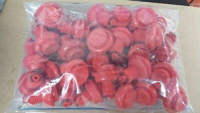 Pinball Machine  : Red flipper buttons for pinball machines pack of 40