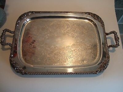 VintageSilver plate Serving Tray large tray 21 inches