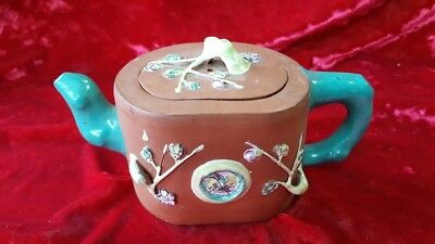 "VINTAGE  CHINESE Yi-Hsing POTTERY TERRA COTTA TEAPOT Signed ""CHINA"""