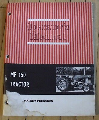 Original Massey Ferguson MF150 Operators Manual Farm Tractor