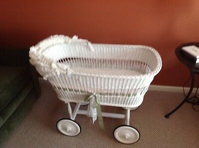 Antique Wicker Bassinet- LOCAL PICK UP ONLY