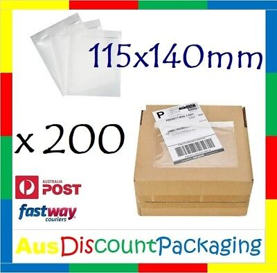 200x 115 x 140mm Invoice Doculope Sticker Document Enclosed Pouch Clear Premium