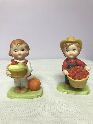Campbell's Kids Harvest of Good Food Boy & Girl Figurines