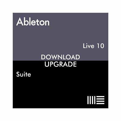 Ableton Live 10 Suite From Live 7-9 Suite (Download)