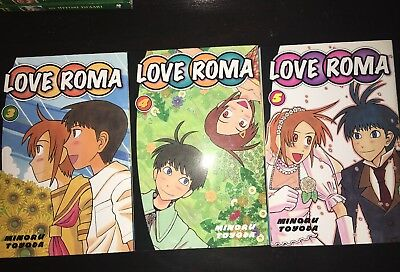 LOVE ROMA vol. 3-5 Del Rey Manga Graphic Novel COMPLETE Lot Book in English
