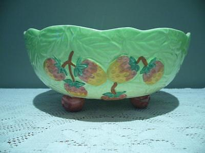 Shorter & Son Hand Painted Footed Fruit Bowl - Vintage - Good Condition
