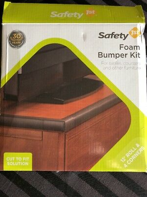 Safety 1st Foam Bumper Kit New In Box Baby Table Counter Furniture Bumper